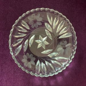 Lead Glass Candy or Nut Dish